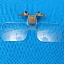 HD Lens Folding Clear Clip On Magnifying Glasses Loupe Reading Jewelry Eyeglass