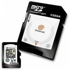 Sega Dreamcast microSD Card 16GB + SD Adapter Set Console & Controller Design
