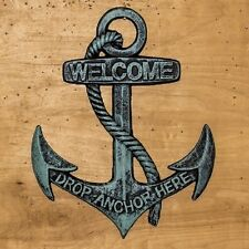 Cast Iron Welcome Boat Anchor  Nautical Wall Decor