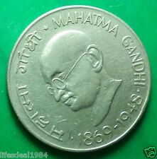 India 50 paise  paisa 1969 Centennial Birth of Mahatma Gandhi Commemorative coin