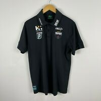 Penrith Panthers NRL Polo Shirt Jersey Mens Large Black Short Sleeve