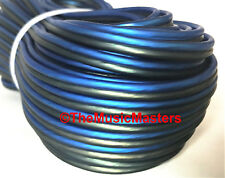 12 Gauge 100' ft SPEAKER WIRE Blue Black Premium HQ Car Audio Home Stereo Cable