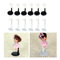 12pcs Support Display Stand Doll Bear Adjustable Height 11-20cm for Teddy
