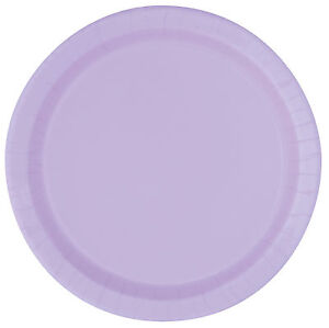 Lavender 23cm Paper Party Dinner Plates Celebration BBQ Wedding 1-48pk