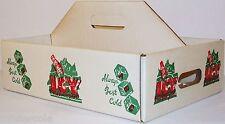Vintage soda pop bottle carton ICY heavy carboard 24 bottle case new old stock