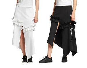 adidas Originals x J KOO Women's Trefoil Ruffle Skirt 3-Stripes Pockets XS S M L