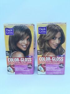 2 Dark and Lovely Color Gloss Ultra Radiant Color Creme Medium & Light Brown