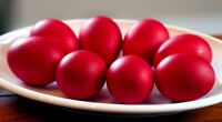 Red colour Paint Color Dip Decorate Dye Dyeing EASTER EGG for 15 eggs
