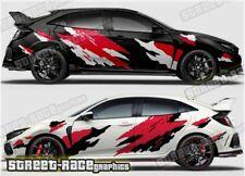 Honda Civic Rally 012 racing motorsport graphics stickers decals vinyl