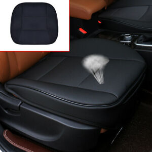 1x Black PU Leather Deluxe Auto Car Cover Seat Protector Cushion Cover Universal