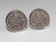 Mens 64th Birthday Gift / Present / Anniversary 1954 Sixpence Coin Cufflinks New