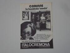 advertising Pubblicità 1974 ITALOCREMONA CORINNE