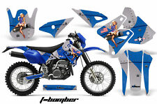 Dirt Bike Graphics Kit Decal Sticker Wrap For Kawasaki KLX400 00-16 TBOMBER BLUE