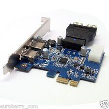 2 Port USB3.0 PCI-E Karte für PCI-E Express Card + 20pin Zu Dual USB Adapter