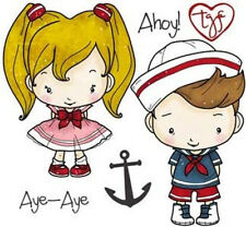 OA-AHOY-The Greeting Farm Cling Mount Rubber Stamp-Stamping Craft-Sailor-RETIRED