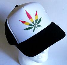 New Rasta Chronic Snapback Hat Weed Trucker Cap Pot Marijuana Swag 420 Party HOT