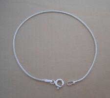 """925 Sterling Silver Solid Snake Bracelet 7.5"""" / 19 cm Long"""