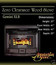 Appalachian GEMINI XLB Wood Burning Stove Fireplace