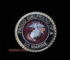 PROUD GIRLFRIEND OF A US MARINE LAPEL PIN TIE TAC MARINES BOYFRIEND MOM DAD WOW