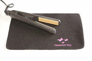 BLACK HEAT PROOF RESISTANT IRON MAT  HEAT MAT FOR USE WITH Cloud 9, GHD & Others