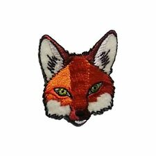Fox Head (Iron on) Embroidery Applique Patch Sew Iron Badge