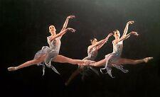 """Nuevo William Oxer Original De Lona """"los tres bailarines Ballet Danza Chica Pintura"""