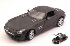 Mercedes Sls Amg (c197) Matt Black 1:24 Model 24025MBK WELLY