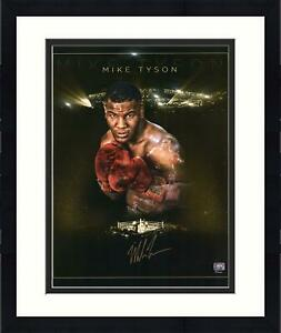 """Framed Mike Tyson Autographed 16"""" x 20"""" Gold Edition Photograph"""