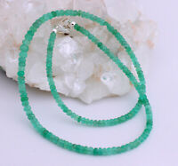 Edle Smaragd Kette Edelsteinkette Kolumbien Facettiert Grün Damen Collier 47 cm