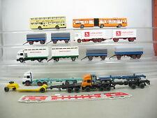 AE702-1# Wiking H0 Anhänger/LKWs/Busse; Westfleisch, BVG, Lebkuchen etc.