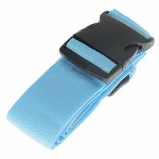 Blue Travel Baggage Adjustable Suitcase Luggage Strap Tie Down Belt Buckle Strap