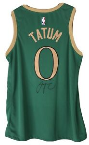 "Jayson Tatum Signed Boston Celtics Autograph Nike ""City Edition"" Jersey FANATICS"