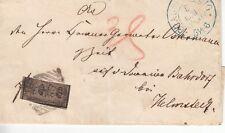 9a / Briefchen von Braunschweig nach Helmstedt mit 2/4 Frankatur - tadellos