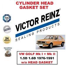 VICTOR REINZ HEAD GASKET SET for VW GOLF 1.5D 1.6D 1976-1991 w/o head gasket