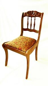 Unique Vintage Rose Detail Side Chair - Recently REFURBISHED- FREE SHIPPING