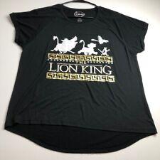 Disney The Lion King Womens Junior's XL 15 17 T Shirt Black White Short Sleeves