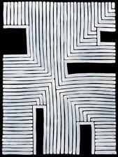 Adam Reid, Fire Dreaming, ORIGINAL Aboriginal Art 90x65cm w/ COA