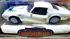 ERTL American Muscle 1973 Pontiac Firebird Trans Am SD 455 White 1/18 Scale