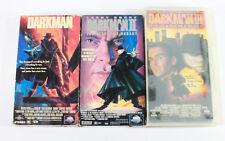 Darkman VHS Lot, Darkman 1, 2, and 3.