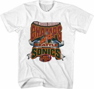 Vintage Seattle Supersonics World Champions 1995 t-shirt NBA basketball TK1141