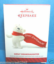 """Hallmark """"Great Granddaughter"""" Ornament 2014"""