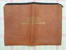 Bingo Operator World's Greatest Vintage Pouch Case Purse Ray's Novelties Zipper