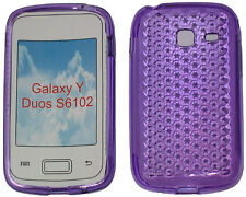 For Samsung Galaxy Young Y Duos GT S6102 Pattern Gel Case Protector Cover Purple