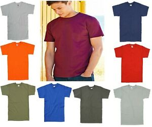 Men's Cotton Plain Blank Men's Tee-Shirt NEW Fruit of the Loom - All Sizes