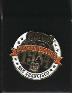 1984 San Francisco Giants All-Star Game Press Pin Candlestick Park
