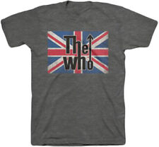 The Who Union Jack Logo Adult T-Shirt - English rock band, Pete Townshend, Roge