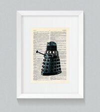 Dalek Dr Who Vintage Dictionary Book Print Wall Art