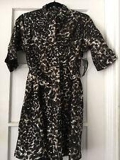 Donna Karan black - leopard print dress