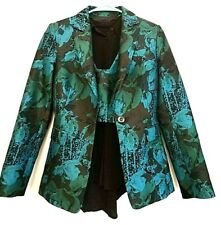 Cue Turquoise Dress Suit Blazer Jacket - Size US 0 - XS