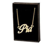 18k Plateó la Collar de Oro Con el Nombre - PIA - Regalos Para las Mujeres